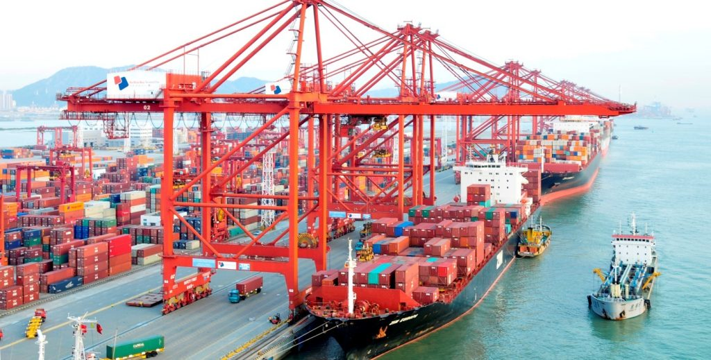 Ocean freight in Hai Phong port-Vietnam